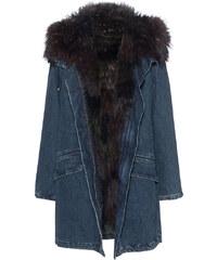 YVES SALOMON Furry Denim Blue