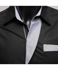 Re-Verse Hemd mit karierten Details - Schwarz - S