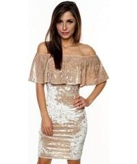 DIVA Sametové šaty MIRINA GOLD Barva: Zlatá,