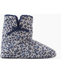 Esprit Domácí obuv s leopardím potiskem