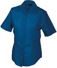 James & Nicholson Dámská košile s krátkým rukávem JN603
