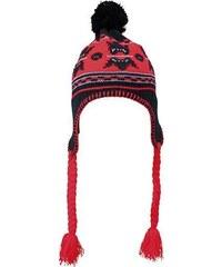 Myrtle Beach Pletená čepice se vzorem a klapkami na uši MB7927