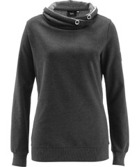 bpc bonprix collection Sweatshirt langarm in grau für Damen von bonprix