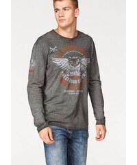 Cipo & Baxx Langarmshirt Burnout Shirt grau L (52/54),M (48/50),S (44/46),XL (56/58),XXL (60/62),XXXL (64/66)