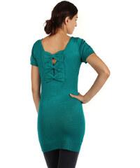 YooY Dlouhý svetr s mašlemi na zádech zelená