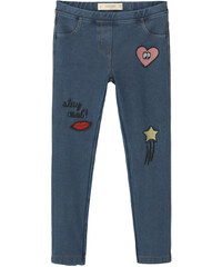 MANGO KIDS Leggings Denim Pièces Cousues