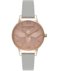 Montre Olivia Burton Midi Moulded Bee - Grey and Rose Gold