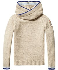 Scotch Shrunk Jungen Pullover Hooded Pull with Bright Tipping