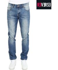Re-Verse Regular Fit-Jeans mit Used-Details - 30