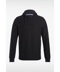 Sweat homme capuche rayures Gris Polyester - Homme Taille L - Bonobo