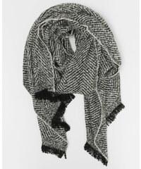 Echarpe plaid gris, Femme, Taille 00 -PIMKIE- MODE FEMME