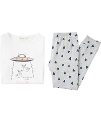 MANGO KIDS Langer Baumwoll-Pyjama