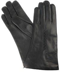 Vystyd Dámské kožené rukavice 1419, velikost 7.5, černá