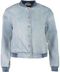 Noisy May Lesley Denim Bomber Jacket Lt Blue Denim