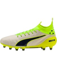 Puma EVOTOUCH PRO FG Chaussures de foot à lamelles birch/peacoat/safety yellow