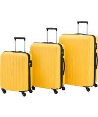 travelite Hartschalentrolley Set mit 4 Rollen (3-tlg.), »Uptown«