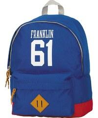 Rucksack mit gummiertem Bodenschutz, »Franklin & Marshall, Boys Backpack hellblau, groß«