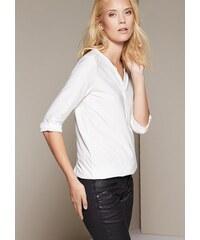 COMMA Legeres 3/4-Arm Jerseyshirt mit schönem Ton-in-Ton Muster