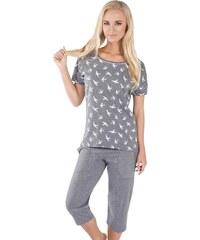 Italian Fashion Dámské pyžamo Cleo šedé
