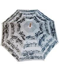 Blooming Brollies Holový deštník White Music Notes LRWP877/MM