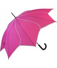 Blooming Brollies Dámský holový vystřelovací deštník Swirl Pink EDSSWP