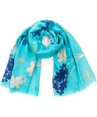 Szaleo Romantický šátek Flowers tyrkysový tyrkysová uni