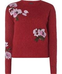 Pinko Pullover mi floralen Stickereien
