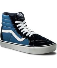 Sneakersy VANS - Sk8-Hi Lite + VN0004PAIVF (Suede/Canvas) Navy/White