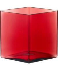 Váza Ruutu 20,5x18, brusinková Iittala