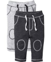 bpc bonprix collection Lot de 2 pantalons sweat bébé coton bio gris enfant - bonprix