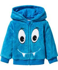 bpc bonprix collection Gilet bébé en polaire peluche bleu enfant - bonprix