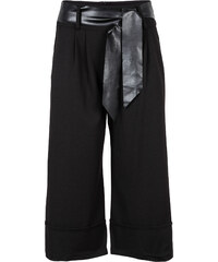 RAINBOW Pantalon large avec ceinture noir femme - bonprix