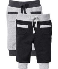 bpc bonprix collection Lot de 2 pantalons sweat bébé coton bio noir enfant - bonprix