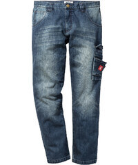 John Baner JEANSWEAR Jean Dirty Used Regular Fit, N. bleu homme - bonprix