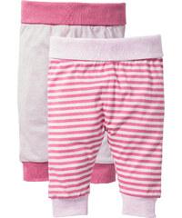 bpc bonprix collection Lot de 2 pantalons bébé en coton bio rose enfant - bonprix