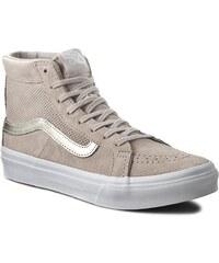 Sneakers VANS - Sk8-Hi Slim Cutout VN004KZJRF (Perf Suede) Silver Cloud