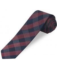COOL CODE Herren Krawatte Breite 6 cm rot aus echter Seide