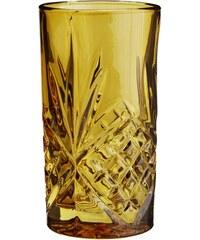 Madam Stoltz Vysoká sklenička Glass Amber