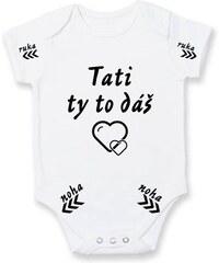 Myshirt.cz Tati to dáš - Body kojenecké - Krátký r. do 1 měs ( Bílá )
