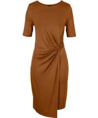BODYFLIRT MUST HAVE: Kleid mit Knoten/Sommerkleid in braun von bonprix