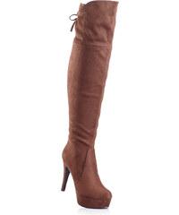 BODYFLIRT Overknee- Stiefel in braun für Damen von bonprix