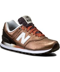 Sneakers NEW BALANCE - WL574RAB Braun Golden