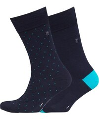 Peter Werth Mens Patten Two Pack Socks Navy