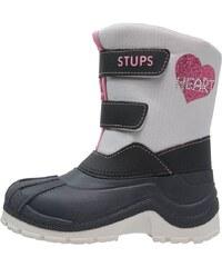 STUPS Bottes de neige hellgrau/rosa