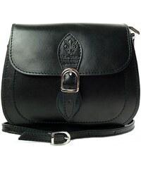 Kožená kabelka Vera Pelle L155C světle černá