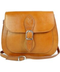 Kožená kabelka Vera Pelle L155C světle hnědá