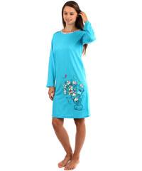 TopMode Dlouhá noční košilka s medvídkem modrá