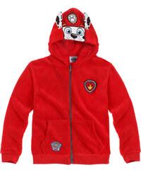 Paw Patrol Fleecejacke rot in Größe 98 für Jungen aus 100% Polyester