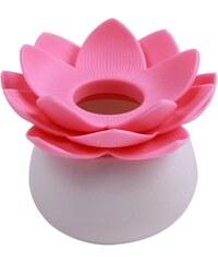 Fuzio držák na vatové tyčinky růžový Květ