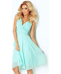 S-a-F Luxusní dámské společenské a plesové šifonové šaty SHIM.cz KARA 354 mint